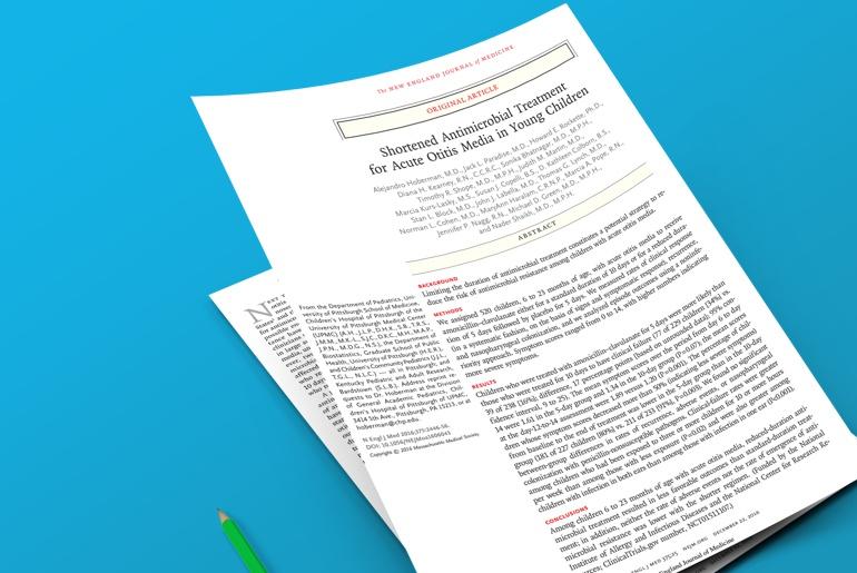artigo da semana - shortened antimicrobial treatment for acute otitis