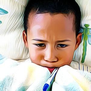 crianca com gripe