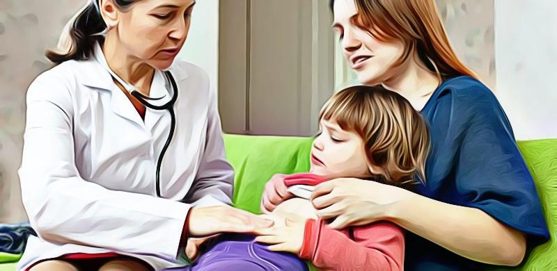 crianca com dor de barriga - clostridium - pediatria