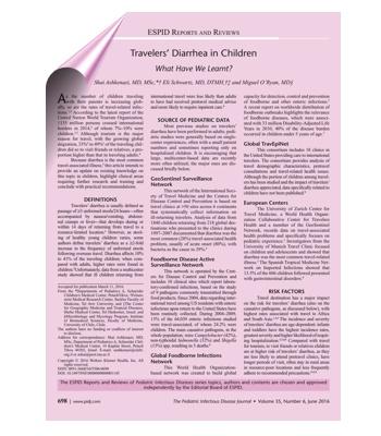 diarreia do viajante pediatria