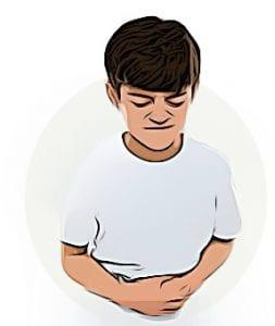 crianca com dor de barriga