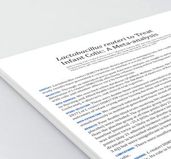 paper lactobacilos colica lactente