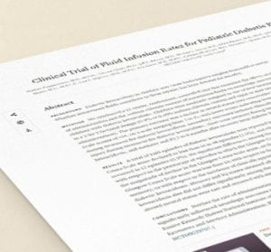 cetoacidose diabetica - taxas de infusao de fluidos - paper referencia