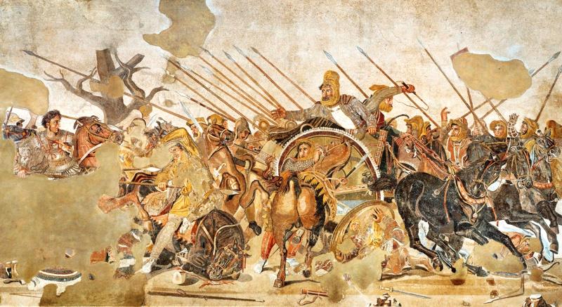 Alexandre o Grande mosaico romano