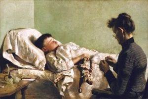 Quadro crianca doente com febre 1893