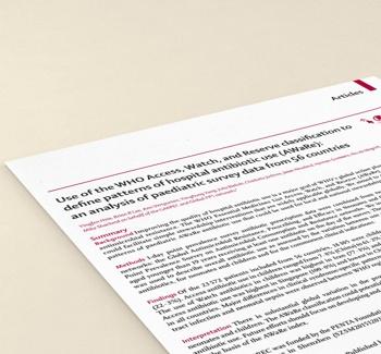 PORTALPED - Estudo AWARE antibioticos The Lancet Global Health
