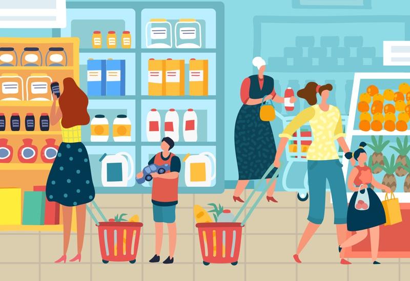 PortalPed - pais e filhos no supermercado